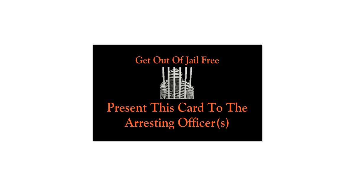Get out of jail free cards zazzle for Get out of jail free card template