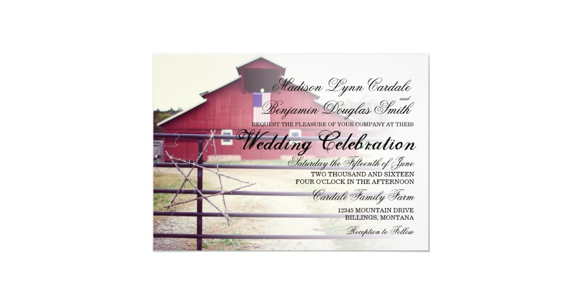 Hitched Wedding Invitations: Getting Hitched Red Barn Wedding Invitations