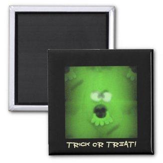 Ghoulie Trick or Treat Green Monster magnet