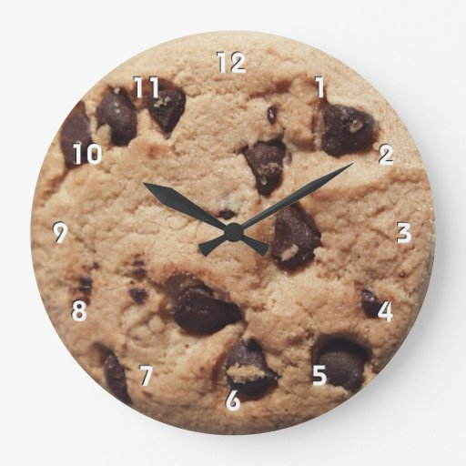 Giant Chocolate Chip Cookie Clock With Numbers Zazzle
