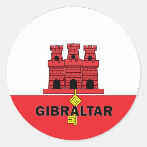 Gibraltar Roundel Quality Flag Classic Round Sticker