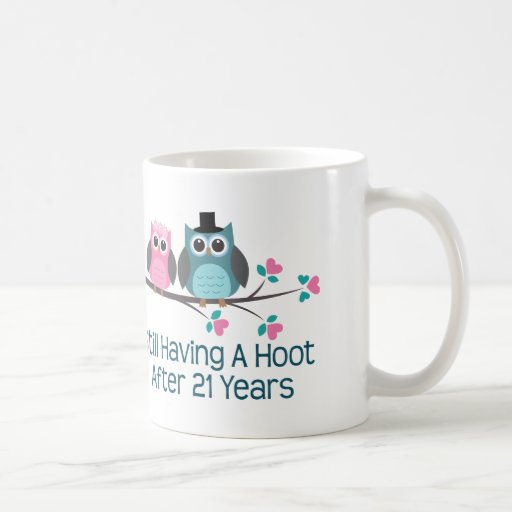 21 Wedding Anniversary Gifts: Gift For 21st Wedding Anniversary Hoot Mugs