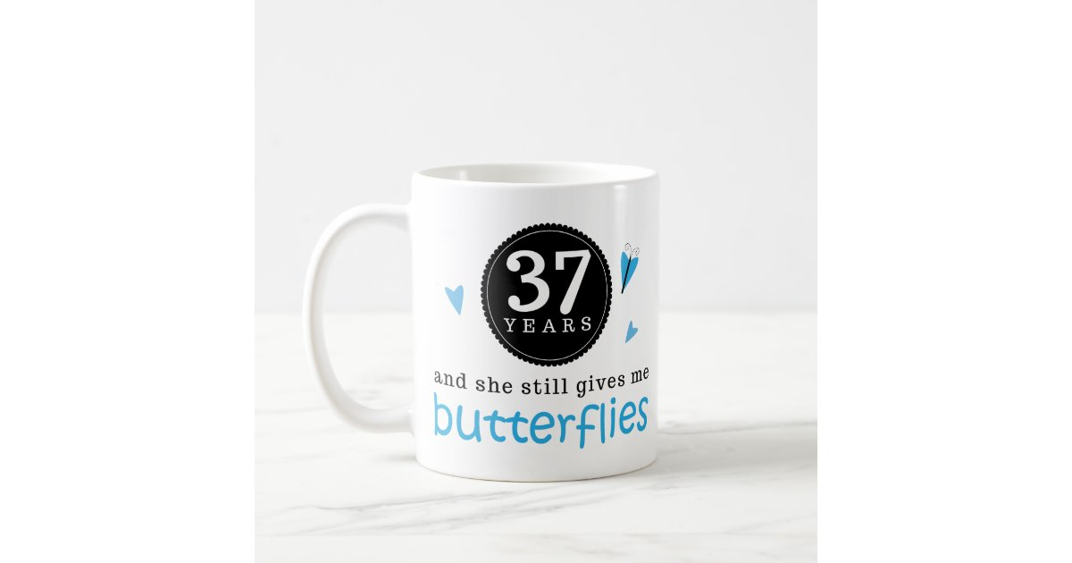37th Wedding Anniversary Gifts: Gift For 37th Wedding Anniversary Butterfly Coffee Mug