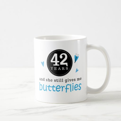 42 Wedding Anniversary Gift: Gift For 42nd Wedding Anniversary Butterfly Coffee Mug