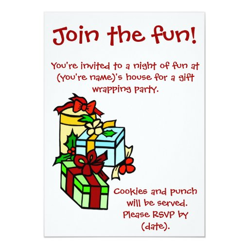 Gift Wrapping Party Invitation