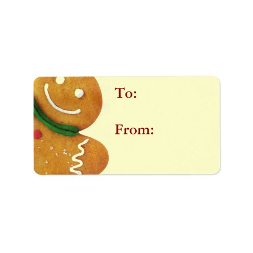 Gingerbread Man Gift Tags Label
