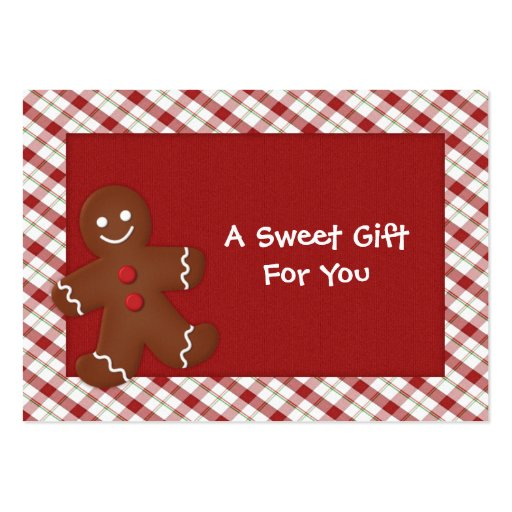 Gingerbread Man Gift Tags Large Business Card