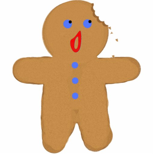 Gingerbread Man with Bite Out