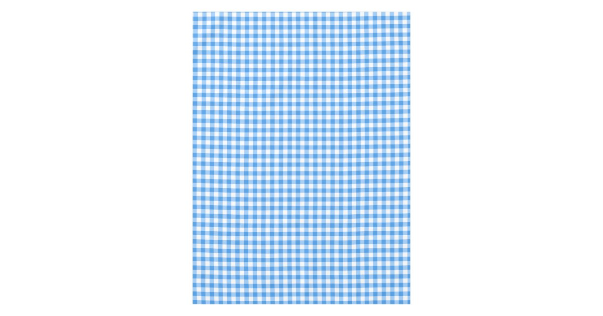 Gingham Check Tablecloth Blue And White Checks Zazzle