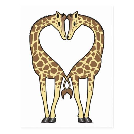 Aninimal Book: Giraffe Love Postcard | Zazzle