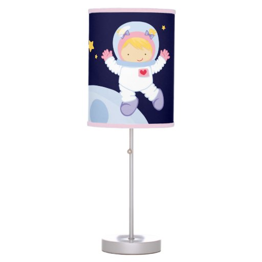 Girly Lamps For Bedroom: Girl Astronaut Kids Table Lamp