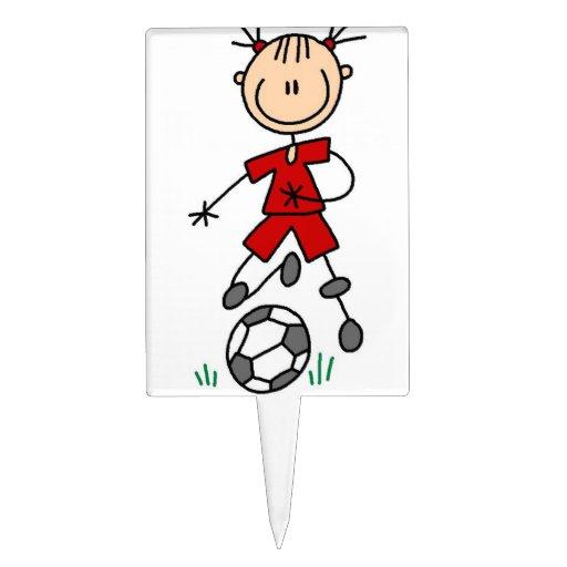 Girl Soccer Player Cake Topper