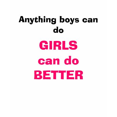 Girls are better than boys