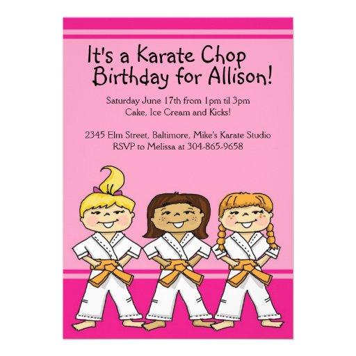 118+ Karate Birthday Invitations, Karate Birthday
