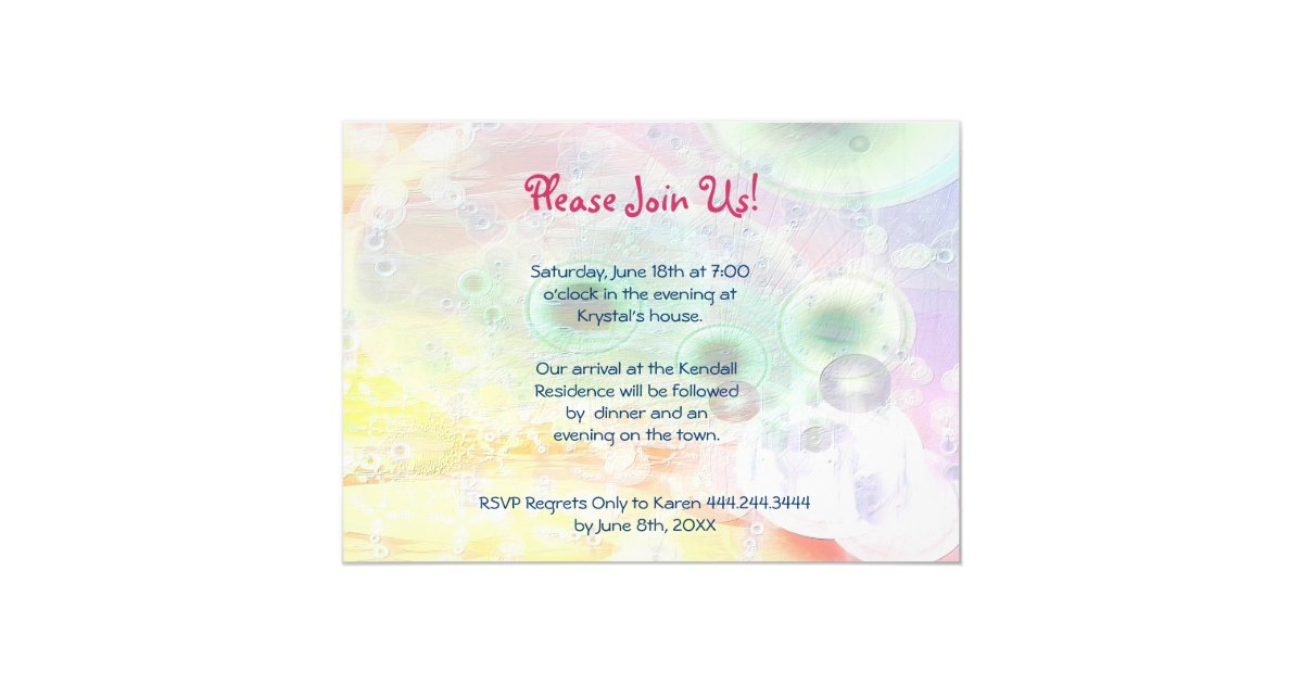 Girl's Night Out - Save The Date Card