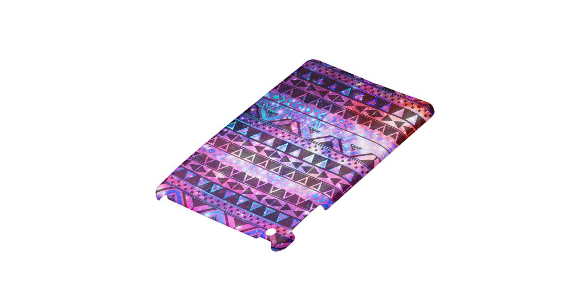 Girly Andes Aztec Pattern Pink Teal Nebula Galaxy iPad ...