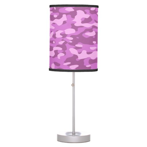 Girly Lamps For Bedroom: Girly Fun Pink Camouflage Desk Lamp