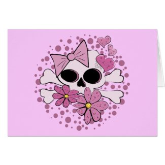 Girly Punk Skull Card