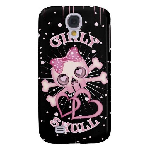 Girly Skull Samsung Galaxy S4 Covers | Zazzle