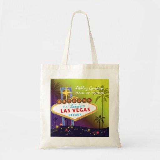 Las Vegas Wedding Gifts: Glam Las Vegas Wedding Maid Of Honor Gift Tote Bag
