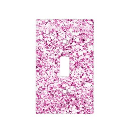 Glitter Pink Light Switch Cover Zazzle
