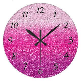 Pink Wall Clocks Zazzle