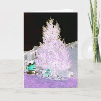 Glowing Christmas Tree card