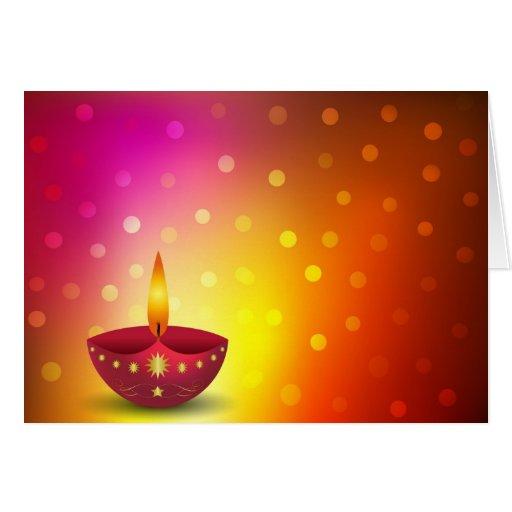 Diwali Lights Online Shop: Glowing Decorative Diwali Lamp Card