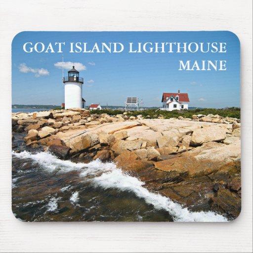 Goat Island Lighthouse, Maine at Lighthousefriends.com  Goat Island Lighthouse