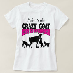 45005c47 GOAT Lover | Personalized Crazy Goat Grandma T-Shirt