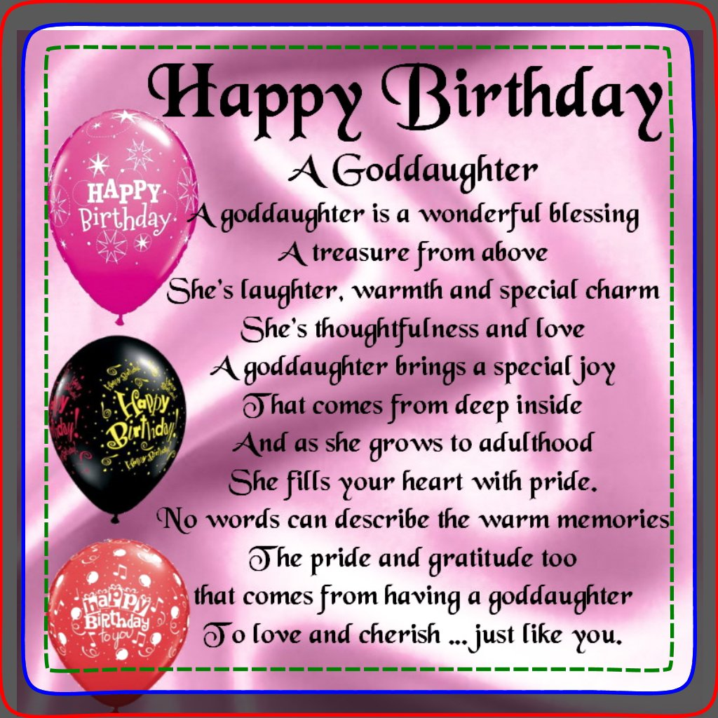 Inspirational Birthday Quotes For Goddaughter: Goddaughter Quotes And Poems. QuotesGram