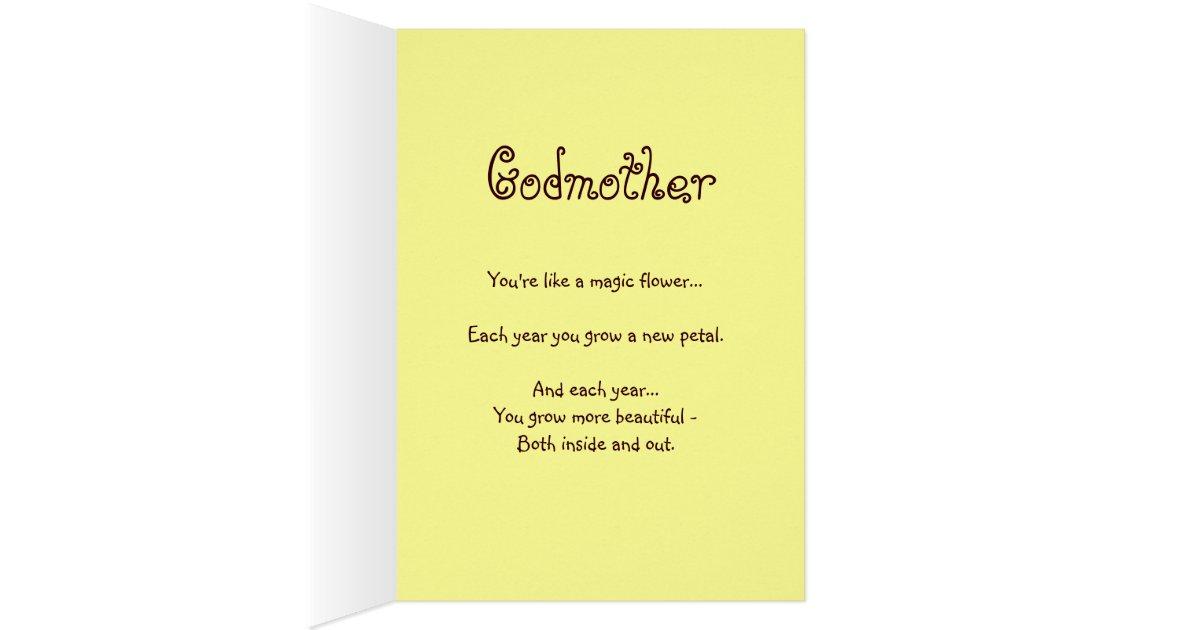 Happy Birthday Godmother Card: GODMOTHER Custom Name Happy Birthday Sunflower Card