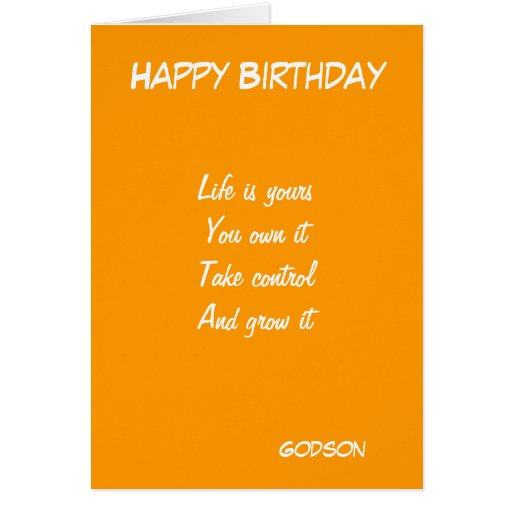 Inspirational Birthday Quotes For Goddaughter: Godson's Motivational Birthday Greeting Cards