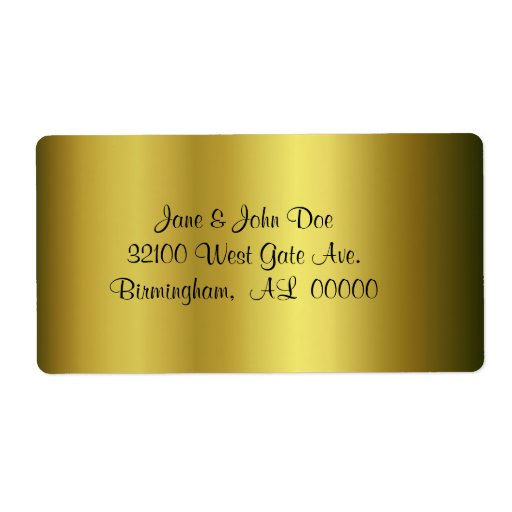 Gold Address Shipping Labels
