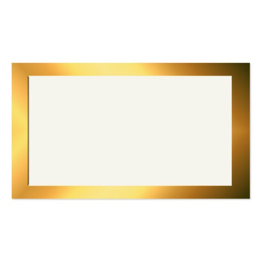 Gold and cream name place cards double sided standard for Double sided place card template