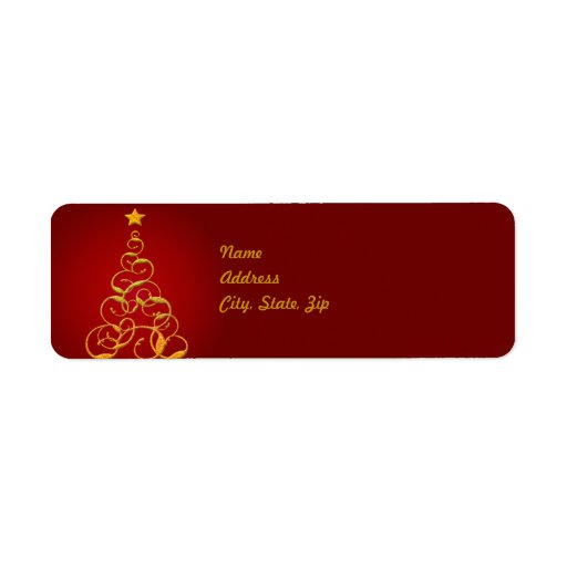 avery 6870 template - gold christmas tree address label template zazzle
