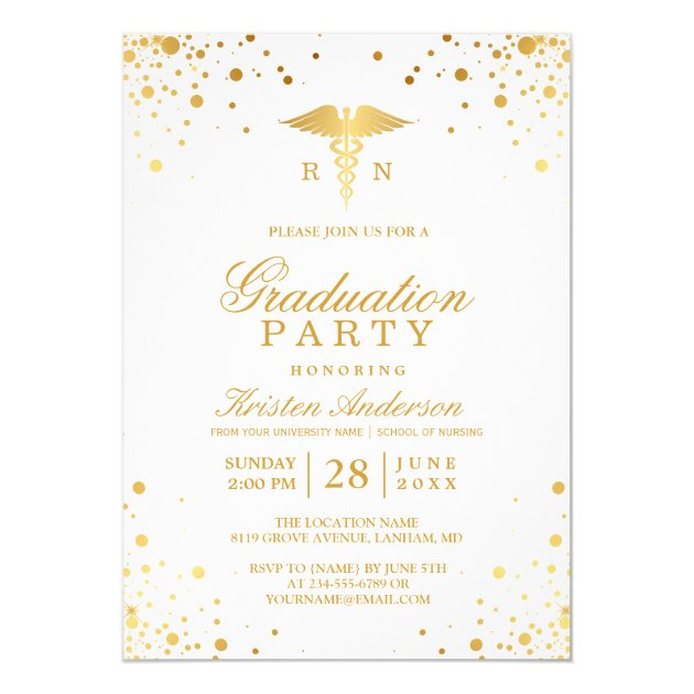 This Medical Themed Invitation Announcement Is Featured In White With A Black Stethoscope Design Coordinating Enclosure Cards And Envelope Seals