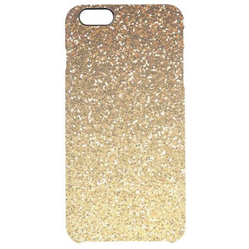 Gold Glitter Iphone  Plus Case