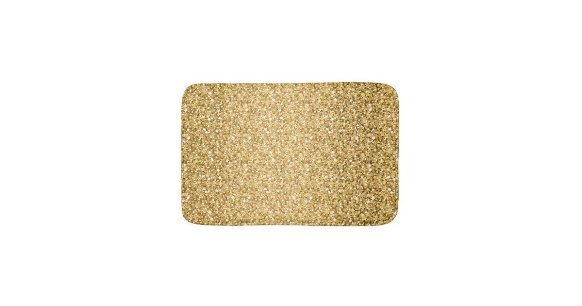 Gold Glitter Pattern Bathroom Mat Zazzle