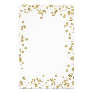 Gold Glitter Stationery | Zazzle