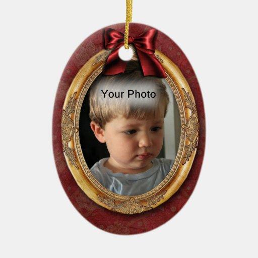 Gold Photo Frame Vintage Christmas Ornament | Zazzle