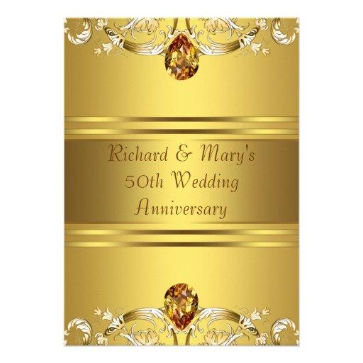 Personalized 50th Anniversary Invitations Custominvitations4u Com