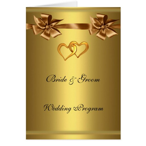 Wedding Anniversary Program Ideas: Gold Wedding Program Greeting Cards