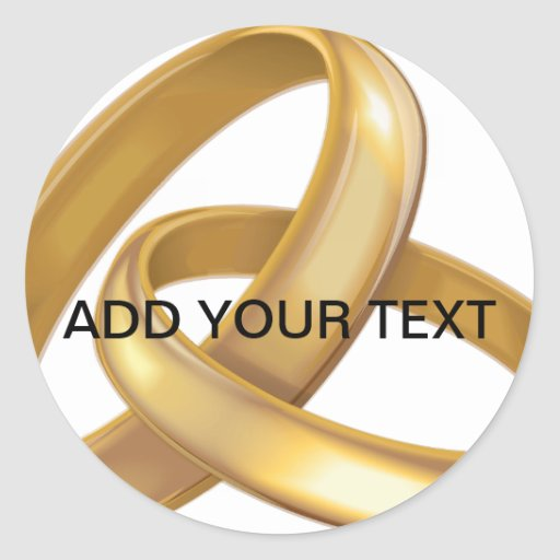 Gold Wedding Rings Intertwined Sticker