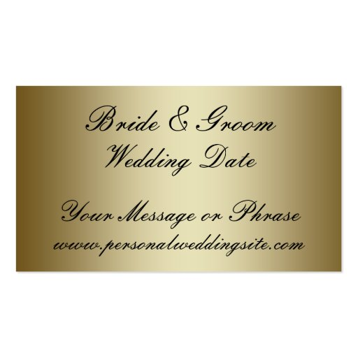 Wedding Invitations Business: Gold Wedding Website Insert Card For Invitations Double