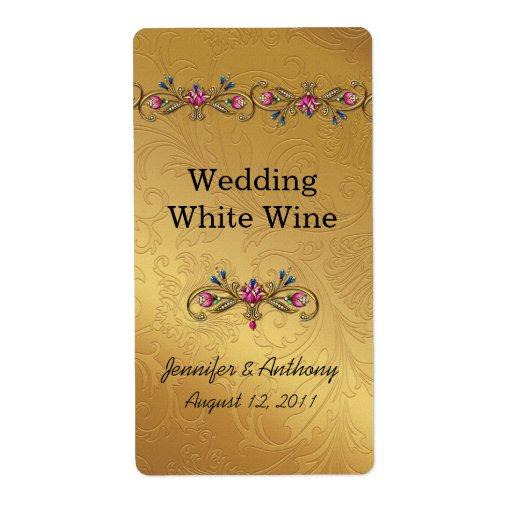 Gold Wedding Wine Labels