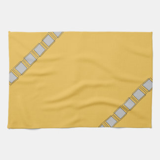 Yellow And Grey Kitchen Towels Zazzle