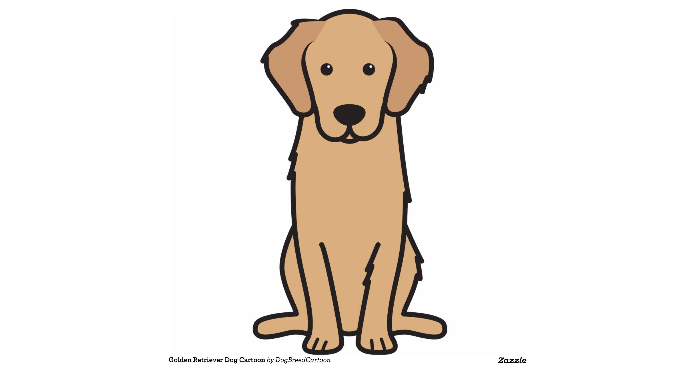 Golden Retriever Cartoon Clipart