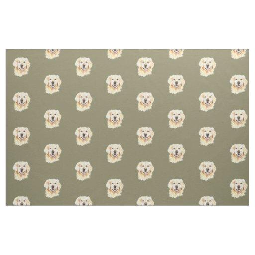 Golden Retriever Dog Pet Animal Print Fabric Zazzle