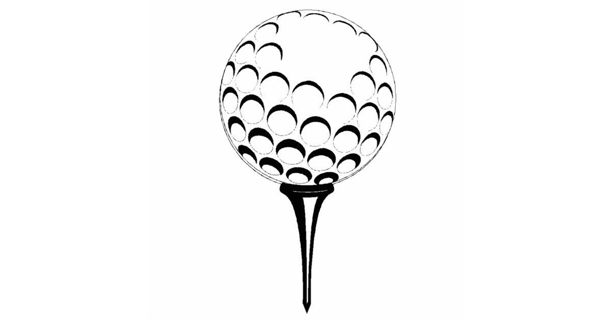 Golf Ball On Tee Silhouette